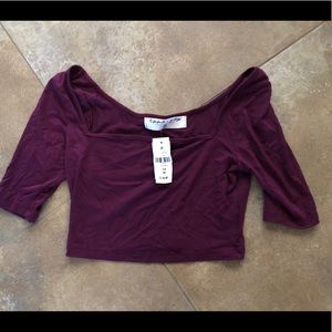 LF brand plum crop top size xs